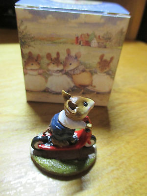 Wee Forest Folk (WFF) Scooter Mouse M152 Red Scooter Navy Pants w/ Box