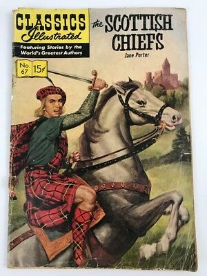 Classics Illustrated #67 1950 (The Scottish Chiefs) Jane Porter