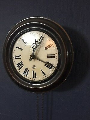 Black Forest Wall Clock Mahogany Circa 1900 Lovely Condition ..
