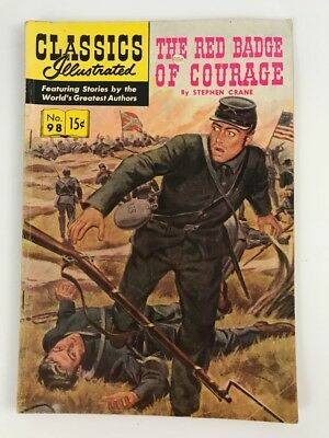 CLASSICS ILLUSTRATED #98 — 1952 The Red Badge of Courage