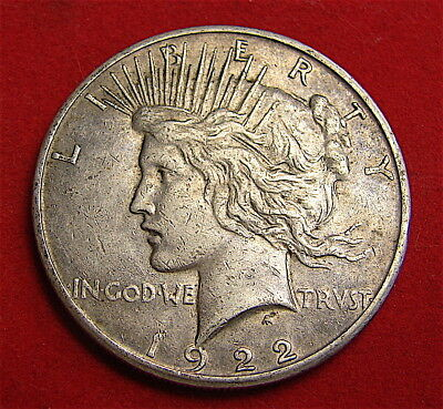 Silver Peace Dollar---------1922-S-------Free Shipping***