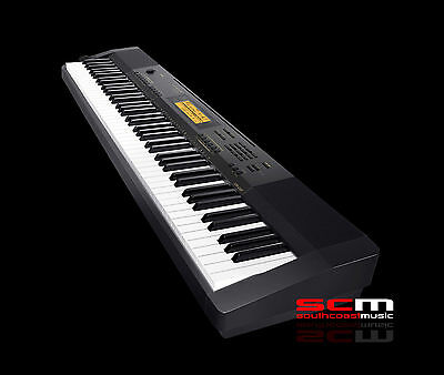 CASIO CDP230 ELECTRONIC DIGITAL 88 WEIGHTED KEY PIANO w/ ADAPTOR, SUSTAIN PEDAL