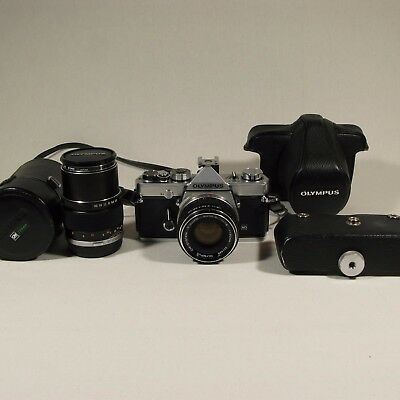 Olympus OM-1 MD Two lenses and cases