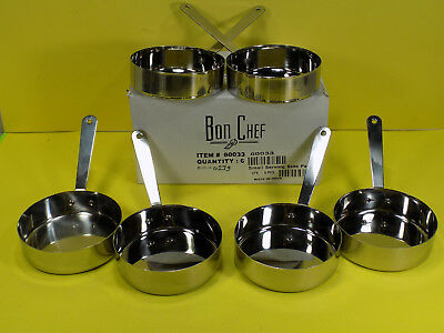 6 New Bon Chef #60033 Small Stainless Steel Single Serving Side Pan Heavy Duty