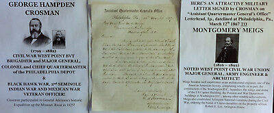 Black Hawk/seminole/civil War General Baseball Hamilton Park Ct Letter Signed Vf