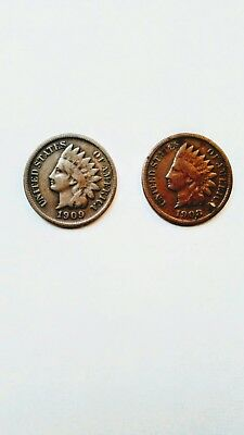 1909-s indian head penny and 1908-s indian head penny both key dates