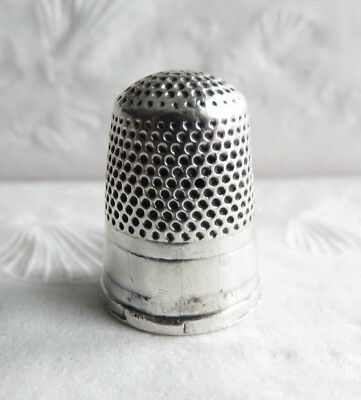 Antique Sterling Silver Thimble Has 3 Holes