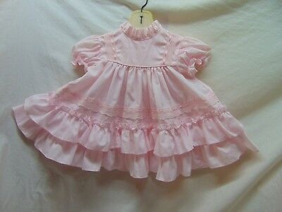 **Vintage** Toddler Girl Size 2T Flouncy Pink Dress by Bryan