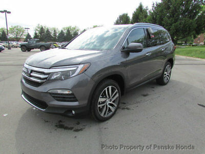 2017 Honda Pilot Touring AWD Touring AWD New 4 dr SUV Automatic Gasoline 3.5L V6 Cyl Modern Steel Metallic