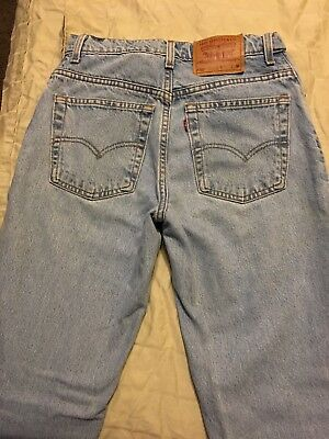 LEVIS Vtg 90s Womens High Waisted 550 Jeans Relaxed Fit Made In USA Size 9 JR M