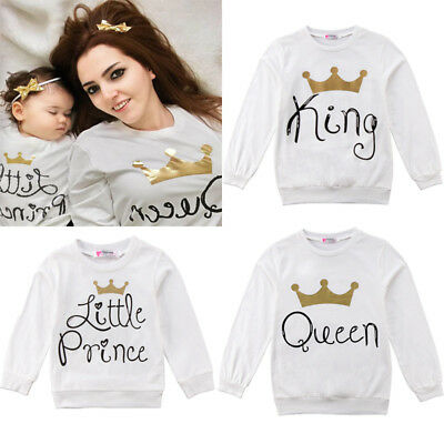 AU Baby Women Men Family King Queen Prince Princess T-Shirt Summer Short Sleeve