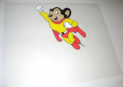 Mighty Mouse - Hand inked and painted animation cel