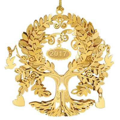 Danbury Mint 23kt Gold plated Christmas tree Ornament  2017 New stunning