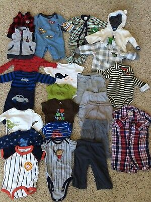 Lot of 25 Baby Boy 3-6 Months Clothes Gymboree Carters
