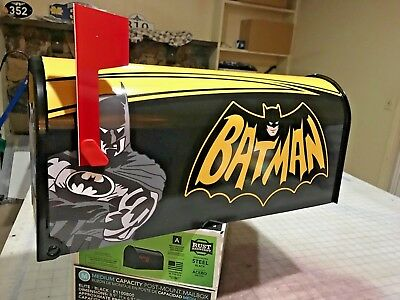 BATMAN MAILBOX Postmaster Approved STANDARD FULL SIZED MARVEL COMIC SUPERMAN etc