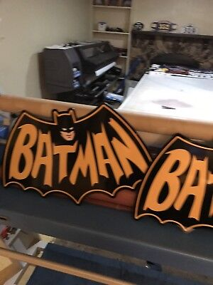 "BATMAN Batwing Sign Large 32"" Marvel Superhero Sign One Of A Kind"