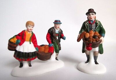 "Dept 56 ~ ""Buying Baker's Bread"" Set of 2 Alpine Village w/box! #56197"