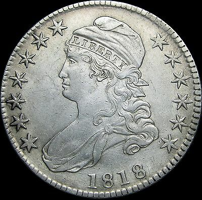 1818 Capped Bust Half Dollar Silver ---- STUNNING Details TYPE COIN ---- #D315