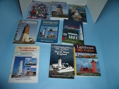 LIGHTHOUSE BOOKS*LIGHTSHIPS FLOATING LIGHTHOUSES*LIGHTHOUSES MAINE*lot of 22