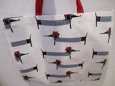 French Dachshund Dog Large100% Recyclable Eco Shopping Tote Bag NWT