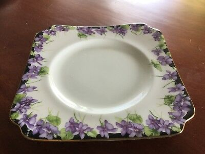 Royal Doulton Bone China Side Plate Violets Pattern Excellent Cond