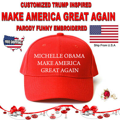 MAKE AMERICA GREAT AGAIN TRUMP, OBAMA FUNNY Hat PERSONALIZED Custom EMBROIDERED