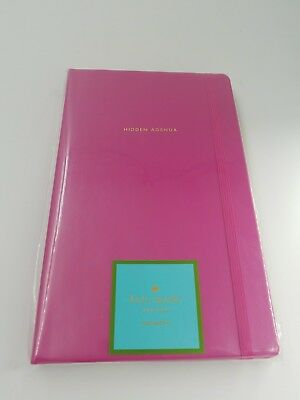 KATE SPADE notebook HIDDEN AGENDA In foil accents silk ribbon bookmark NEW