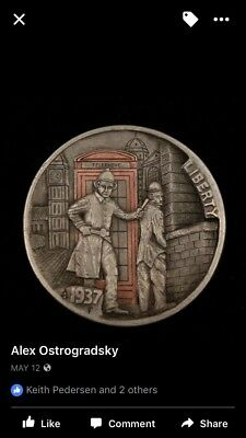 Original Coin,  Engraved Hobo Nickel Coin By Alex Ostrogradsky