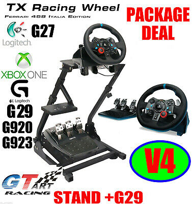 GT ART Racing Simulator Steering Wheel Stand +Logitech G29/G920 Steering Wheel