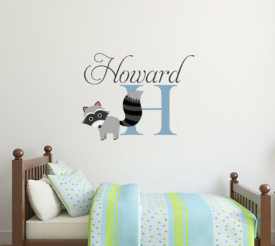 Personalized Wall Decal Boy Name Rac Nursery Decor Mural Ba3