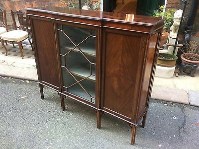 Edwardian Chippendale Revival Bookcase and Cabinet