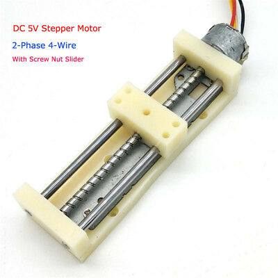 2-Phase 4-Wire Stepper Motor DC 5V 6V Drives Linear Screw With Nut Slider Block