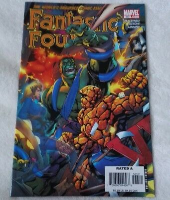 marvel comics fantastic four #533,jan 2006,new condition,bagged & boarded
