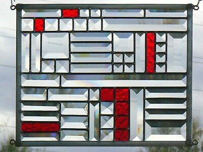 Stained Glass Bevel Panel Window