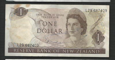 New Zealand 1977-81 1 Dollar P 163d Circulated