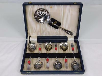Early 20th Century Art Deco Shell Design A1 EPNS Boxed Fruit Spoon Cutlery Set