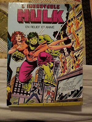 FRENCH The Incredible Hulk Pop Up  Book FRENCH FREE SHIP