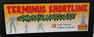 N scale Micro-Trains - Halloween Zombie Train Set with SW1500 Locomotive