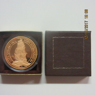 Rare 1984 Lake Ontario Tall Ships Rendezvous Coin By Johnson Matthey