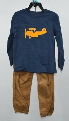 Little Me Toddler Boys 2 Piece Set Long Sleeve Tee and Cord Pants Size NWT