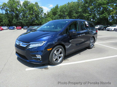 2018 Honda Odyssey Touring Automatic Touring Automatic New 4 dr Van Automatic Gasoline 3.5L V6 Cyl Obsidian Blue Pear
