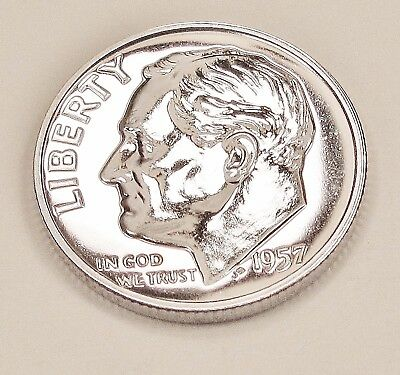 1957  Choice  Proof   Dime  90%  Silver  >Exact  Coin  Pictured <    #1211   3