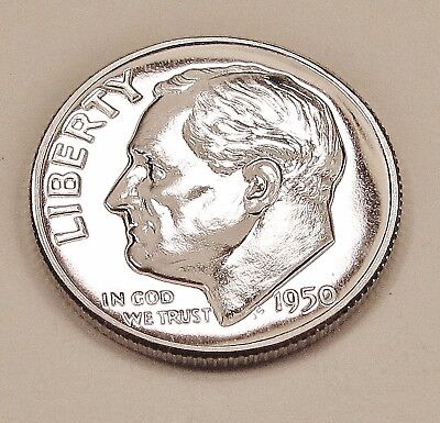 1950  Choice  Proof   Dime  90%  Silver  >Exact  Coin  Pictured <    #1209   42