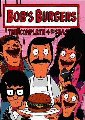 BOB'S BURGERS COMPLETE 4TH FOURTH SEASON 4 New Sealed 3 DVD Set