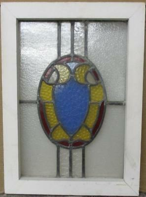 "OLD ENGLISH LEADED STAINED GLASS WINDOW Pretty Abstract 16"" x 22.25"""