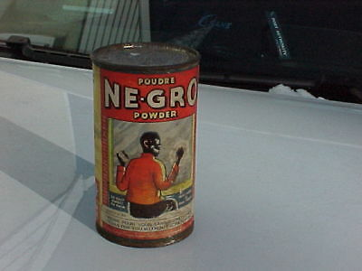 Rare NE-GRO cleaning powder advertising can, Monteal great graphics all over can