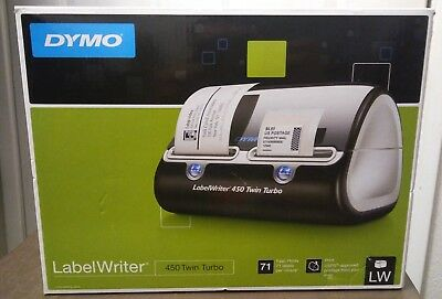NEW Dymo LabelWriter 450 Twin Turbo Thermal Dual Roll Label Postage Printer