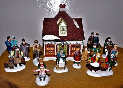 Department 56 Charkes Dickens Thomas Kersey Coffee House & 11 People Plus one