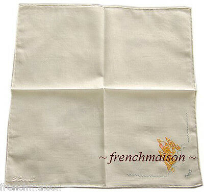 AUTH D.Porthault French MONMARTRE Handkerchief New + Gift Box BOUGHT IN PARIS