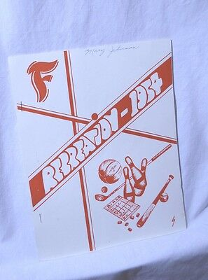 Rare Firestone Plant Sports League Program 1954